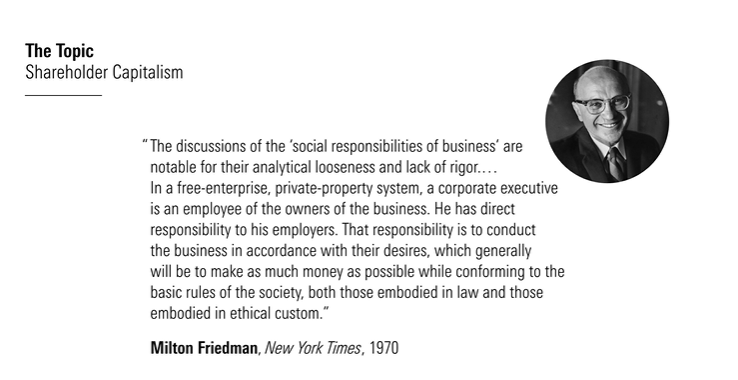 a picture showing a quote from Milton Friedman
