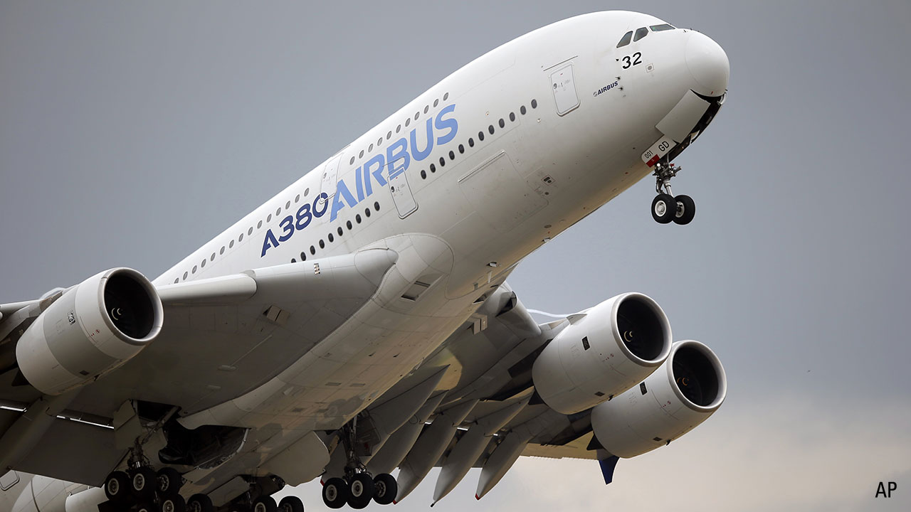 An Airbus A380 takes off