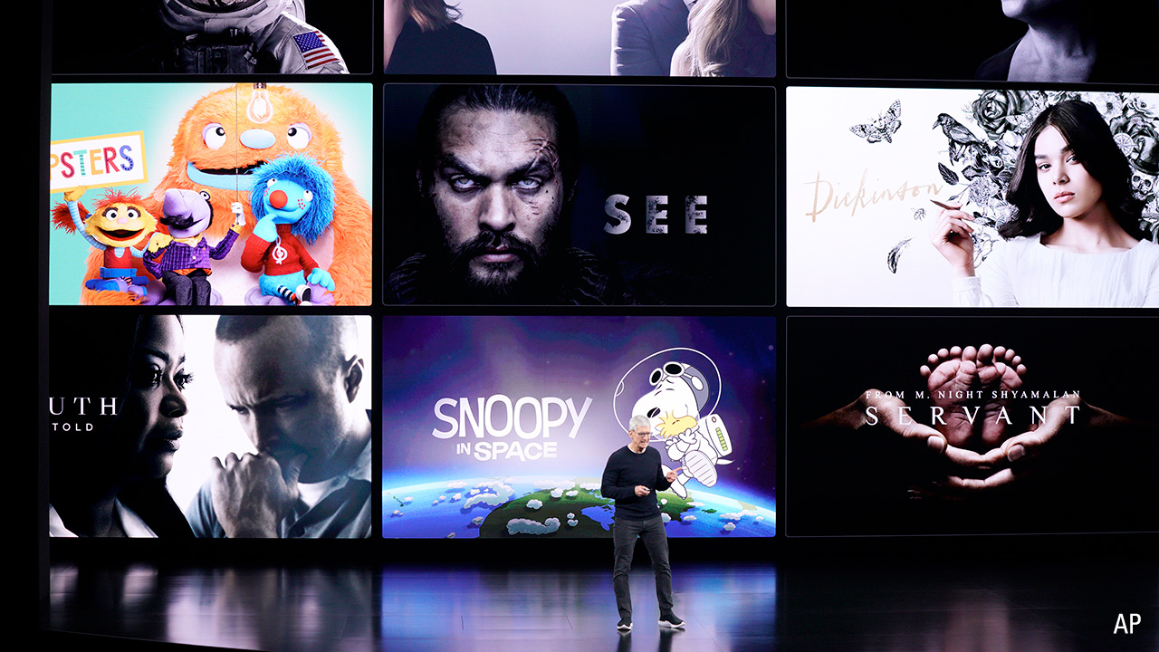 Apple CEO Tim Cook speaks about the new shows on Apple TV