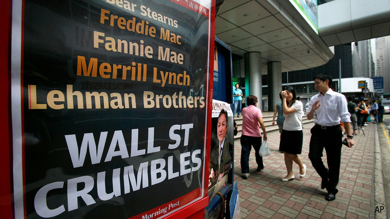 Wall st poster during gfc