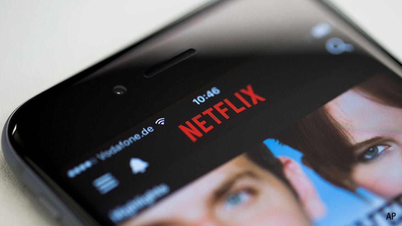 close-up of Netflix viewed on an iphone