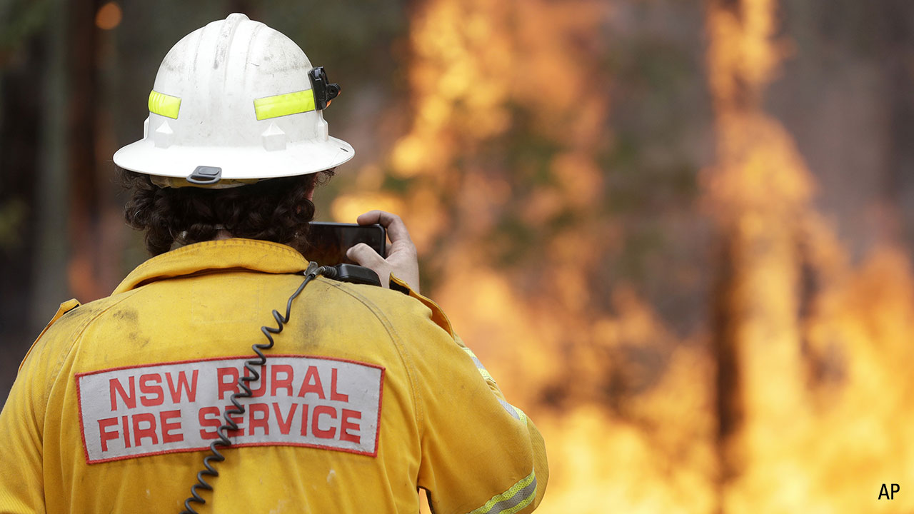 a NSW Rural Fire Service operator in the field
