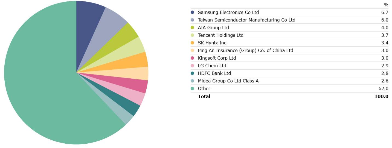 Platinum Asia Portfolio Holdings