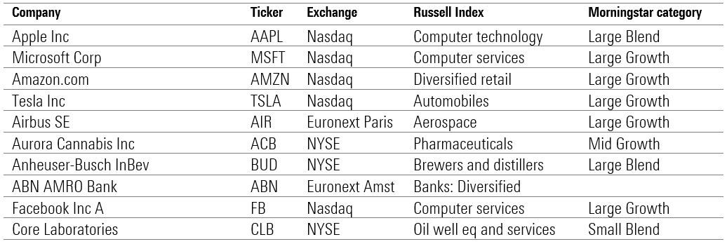 stocks international 2020 morningstar