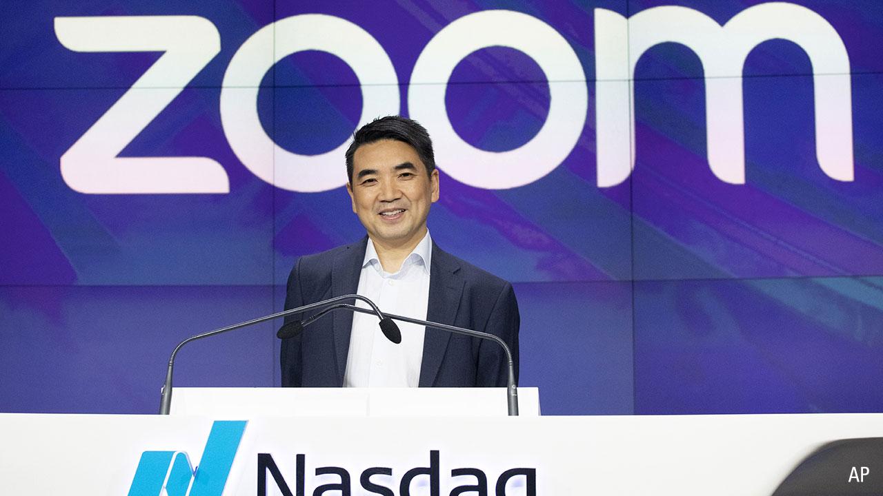 Zoom chief executive Eric Yuan
