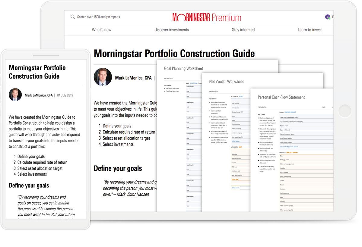 Image of the Morningstar Portfolio Construction Guide