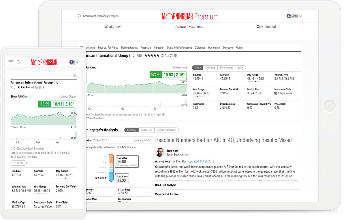 Image of Morningstar Equity Research Reports