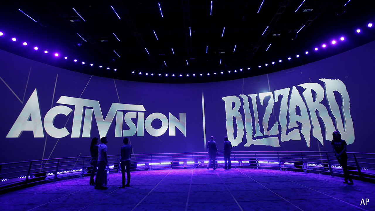 Activision Blizzard name at event