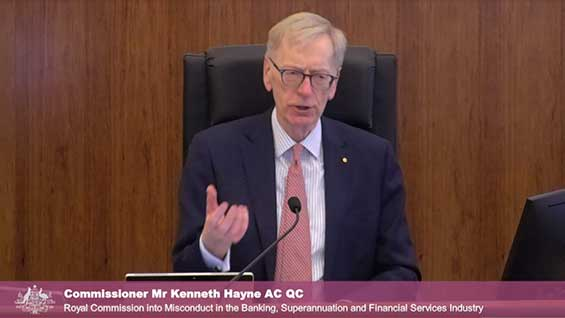 Hayne royal commission banking finance