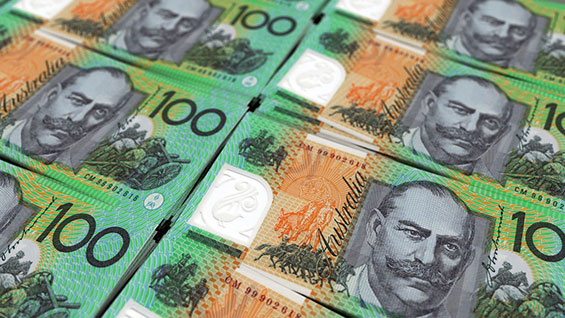 ABS dollar AUD currency