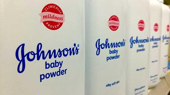 Johnson & Johnson healthcare talcum powder