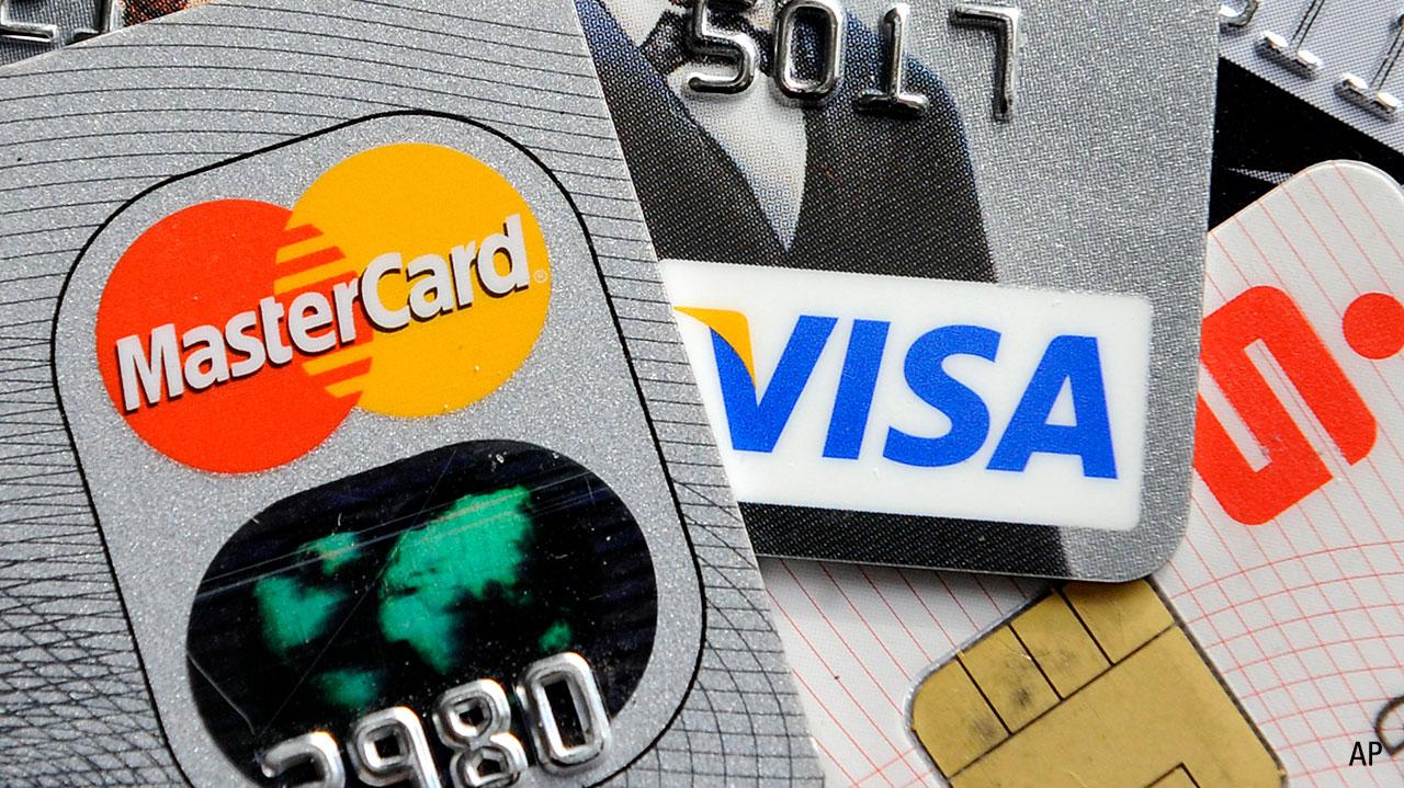 Photo of Visa and Mastercard credit cards