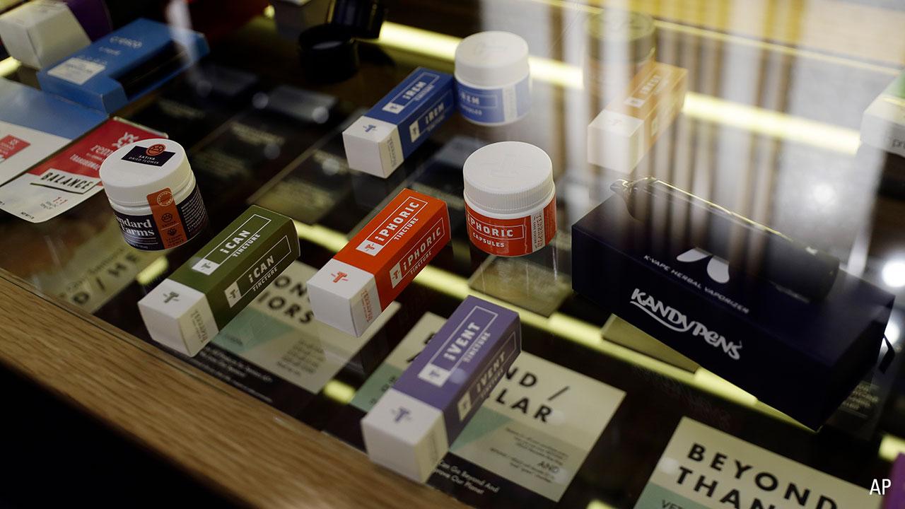 Marijuana products are displayed at Beyond/Hello, Center City Philadelphia's first medical marijuana dispensary