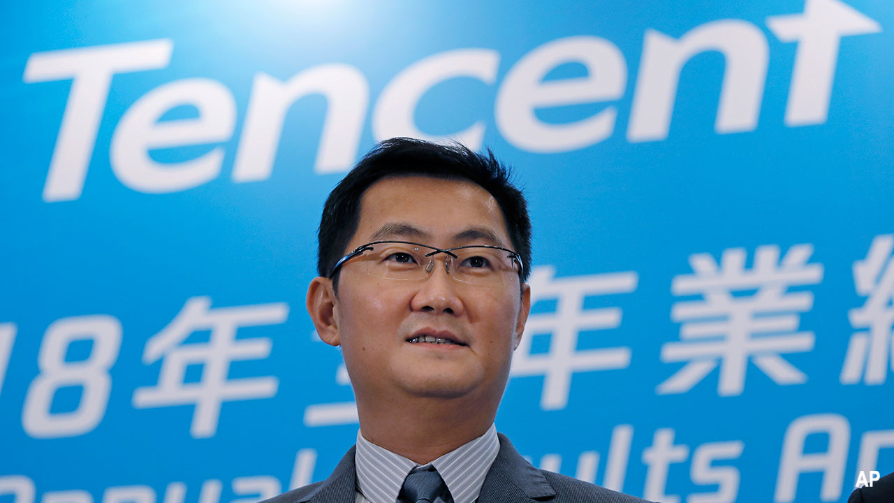 Tencent chairman and CEO, Pony Ma