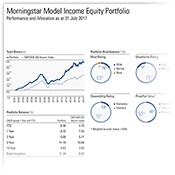 model income equities portfolio image